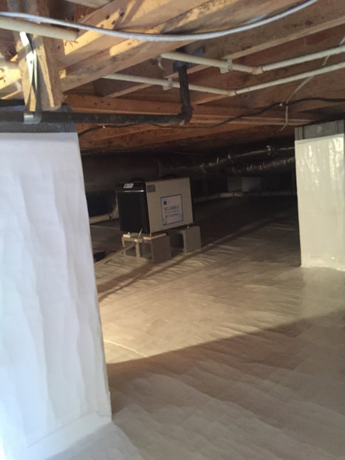 clean and encapsulated crawl space
